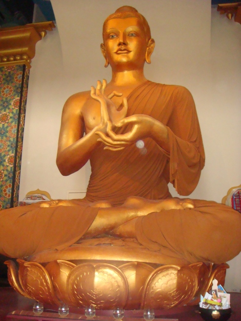 Shambhala Mountain Colorado golden buddha by eva the dragon 2012