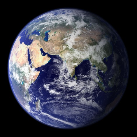Earth Blue Marble by NASA Globe East 2048