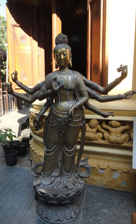 Multi armed Goddess in GangaRamaya Temple in Sri Lanka