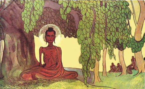 starving Buddha from goldenland pages