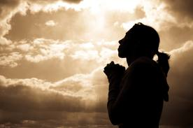 one billion woman praying sky