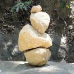 meditating rock on boulder square by eva the dragon 2012
