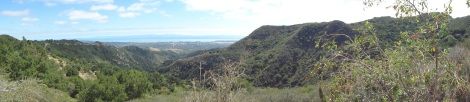 view channel islands from san marcos pass near white lotus santa barbara ca