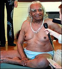 iyengar in white shorts