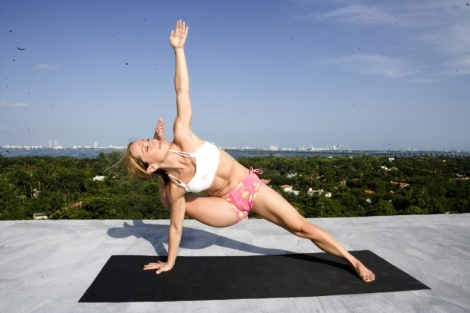 kino doing yoga