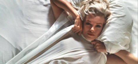marilyn monroe in a sheet