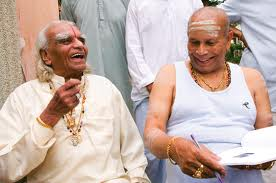 iyengar and jois with book