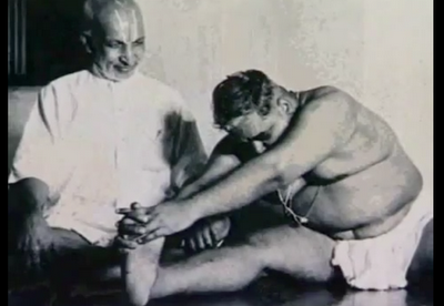 krishnamacharya with a fat man