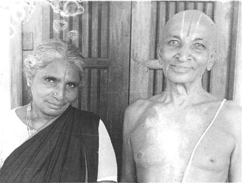 krishnamacharya with his wife