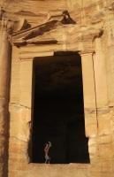 bedu boy doing handstand at monastery 4