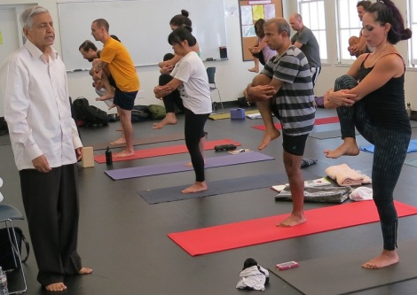 ramaswami teaching yoga at loyola Marymount university