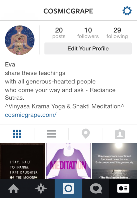 @cosmicgrape on instagram